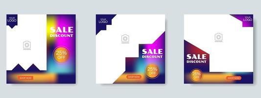 plantilla de diseño de publicación de redes sociales de venta de moda. vector de banner web