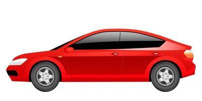 Red sedan cartoon vector illustration