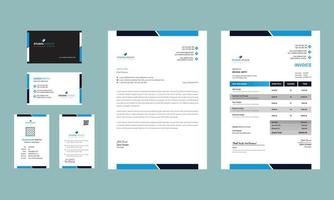 modern clean business office stationery set design vector