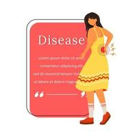 Disease flat color vector character quote