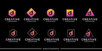 GF logo monogram bundle vector