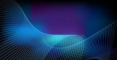 Abstract glowing wave on dark, shiny motion, magic space light. Vector technology abstract background design