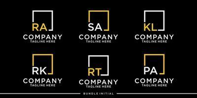 logo box Initial bundle vector