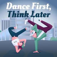 Breakdance social media post mockup vector