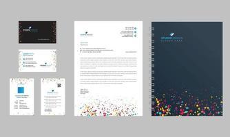 diseño de escenografía de oficina de negocios limpia moderna vector