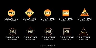 MB logo monogram bundle vector