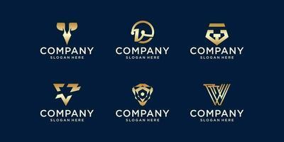 paquete de logotipo v vector