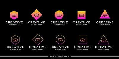BB logo monogram bundle vector