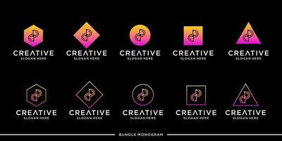 DP logo monogram bundle vector