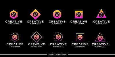 PG logo monogram bundle vector