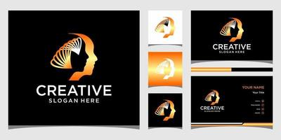 Face logo templates and business card design