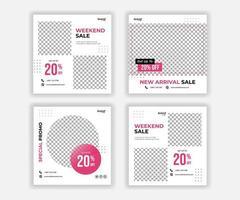 Sale design for Social Media Promotion vector