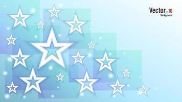 3d papel blanco o estrellas de plástico en el fondo vector
