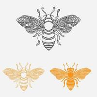 diseño de simetría de abejas vector