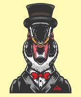 Duck magic illustration vector