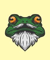 Frog head illustration vector