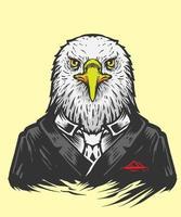 ilustración de cabeza de águila vector