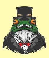 frog magician illustration vector