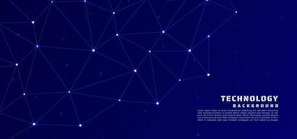 Technology line pattern design dot glow light. vector