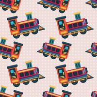 Ilustración de patrones sin fisuras de juguete locomotora