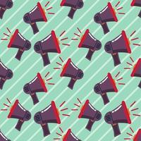 Ilustración de patrones sin fisuras de megáfono vector