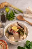 Chicken and coconut milk soup