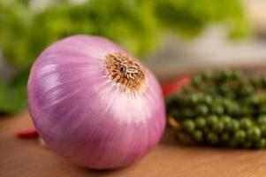 Close-up of a large red onion