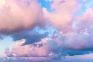 Colorful clouds and blue sky photo