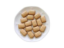 galletas de azúcar en un plato blanco foto