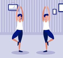 gente haciendo ejercicio en casa