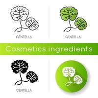 Centella icon. Healing plant. Herbal component. Natural skincare.