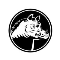 Razorback cerdo salvaje xilografía cabeza de cerdo salvaje vector