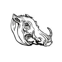 cabeza de jabalí común vector