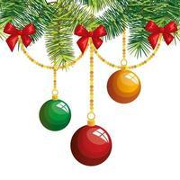 bolas de navidad decoración colgante icono aislado