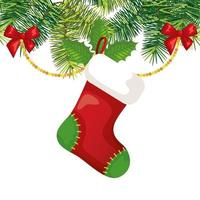 sock hanging with decoration christmas