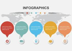 Infographic design template for business vector