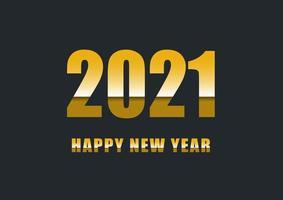 feliz año nuevo 2021 con texto degradado vector