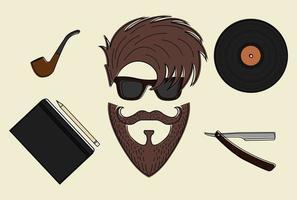 conjunto de iconos de estilo hipster vector