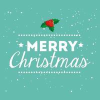 cartel de feliz navidad con letras vector