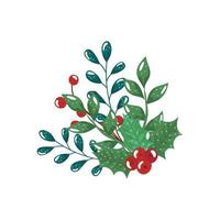 branches with leafs and seeds isolated icon