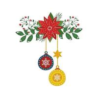 flower christmas with balls decorative hanging