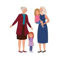 grandmothers with granddaughters avatar character