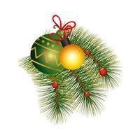bolas de navidad decoracion con hojas tropicales