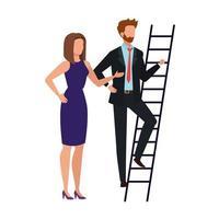 diseño de vector de avatar de mujer y hombre