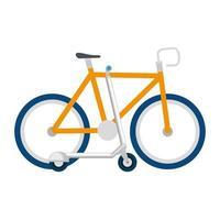 diseño de vector de bicicleta y scooter aislado