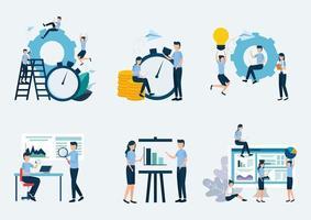 Business analysis statistics vector design