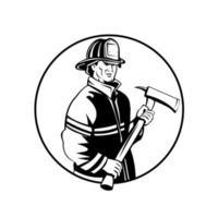 bombero americano bombero primer respondedor vector
