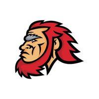 Caveman Head Side Mascot vector