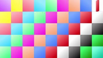 padrão de janela colorida de grade quadrada abstrata video