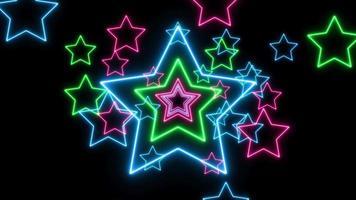 estrelas abstratas de laser neon